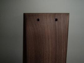 家具耐震固定板,ウォールナット